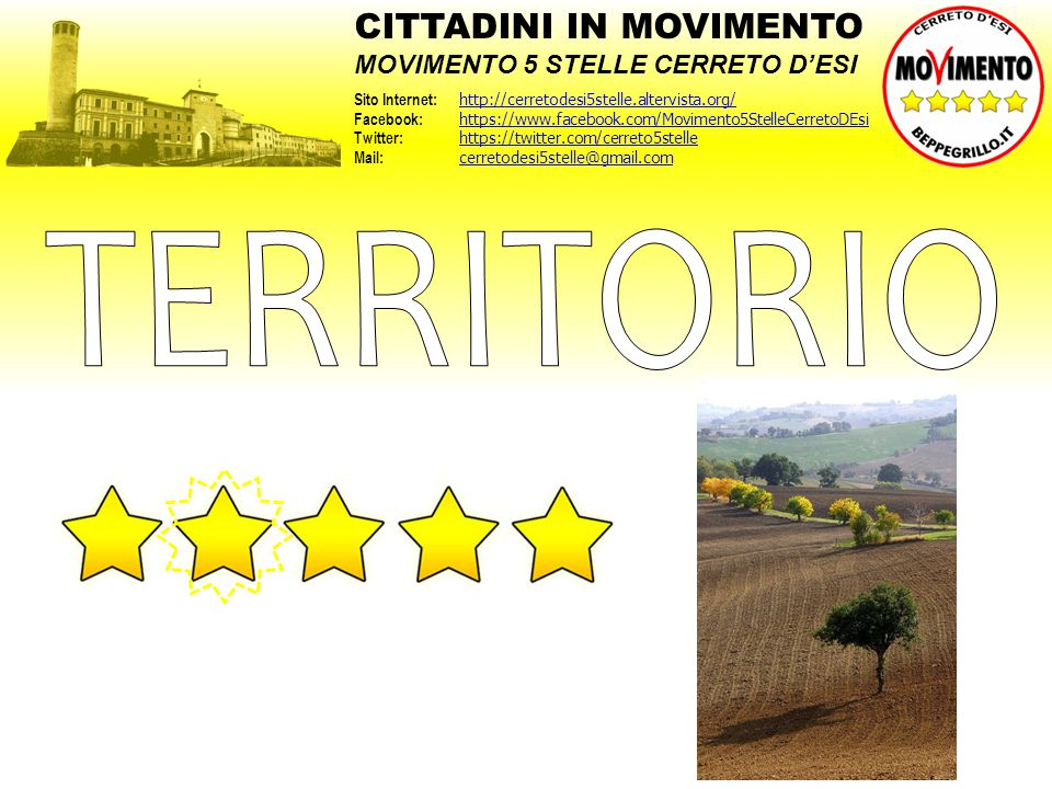 TERRITORIO CITTADINI IN MOVIMENTO MOVIMENTO 5 STELLE CERRETO D'ESI