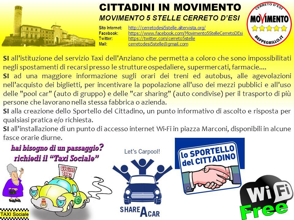 Free CITTADINI IN MOVIMENTO MOVIMENTO 5 STELLE CERRETO D'ESI