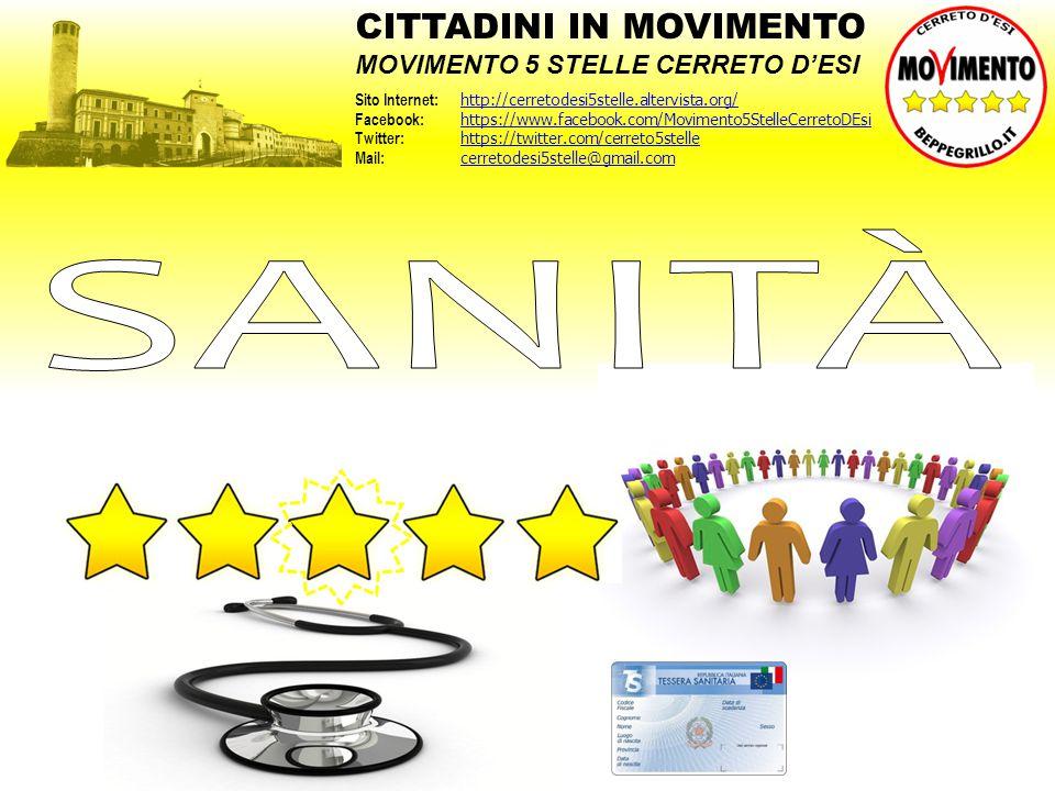 SANITÀ CITTADINI IN MOVIMENTO MOVIMENTO 5 STELLE CERRETO D'ESI