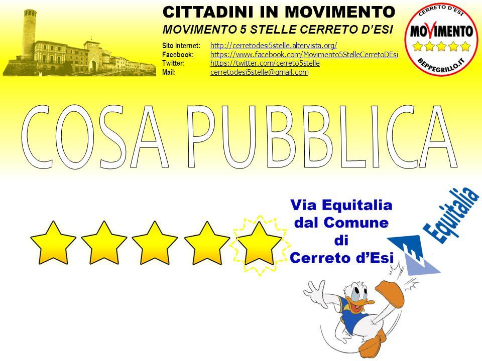 COSA PUBBLICA CITTADINI IN MOVIMENTO MOVIMENTO 5 STELLE CERRETO D'ESI