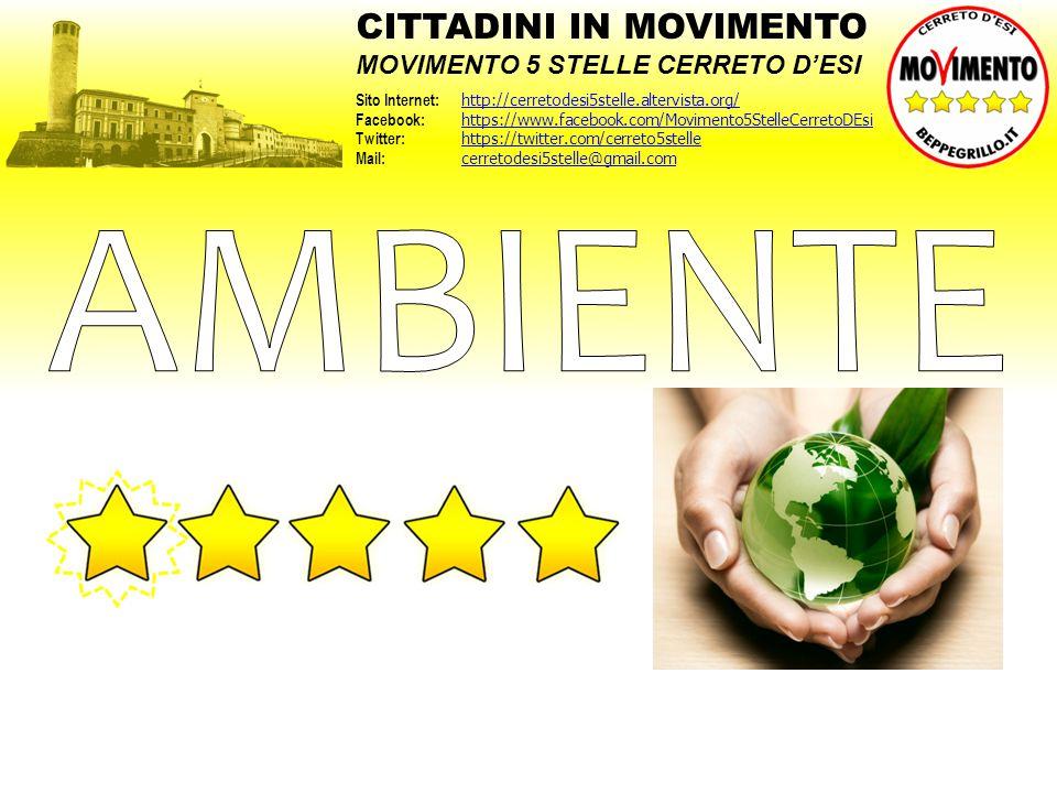 AMBIENTE CITTADINI IN MOVIMENTO MOVIMENTO 5 STELLE CERRETO D'ESI