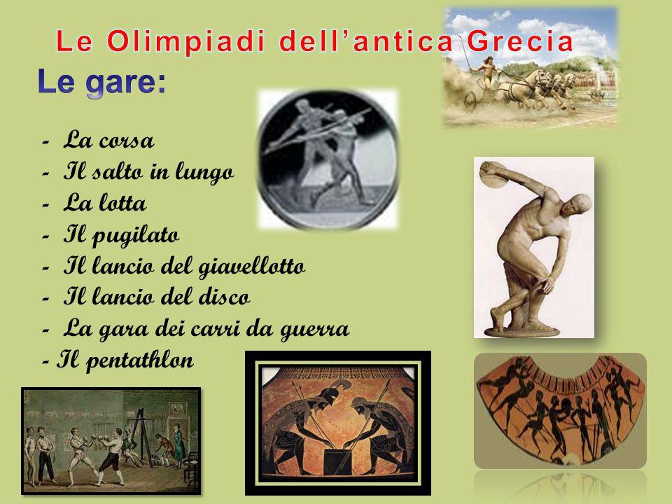 Le Olimpiadi dell'antica Grecia