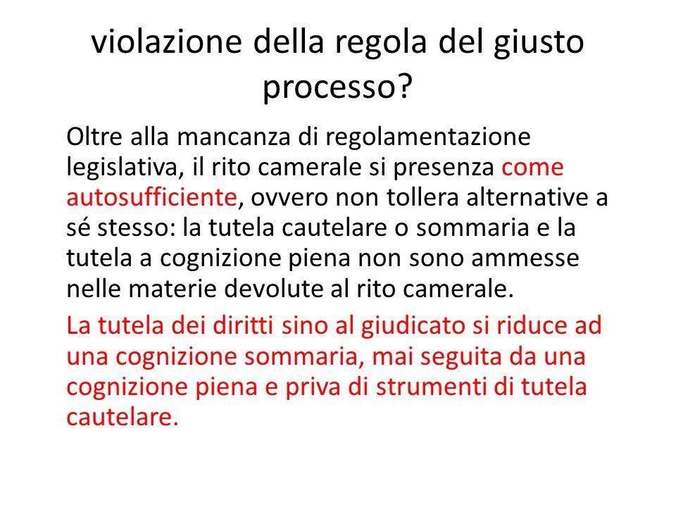violazione della regola del giusto processo