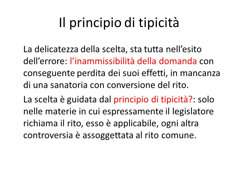 Il principio di tipicità
