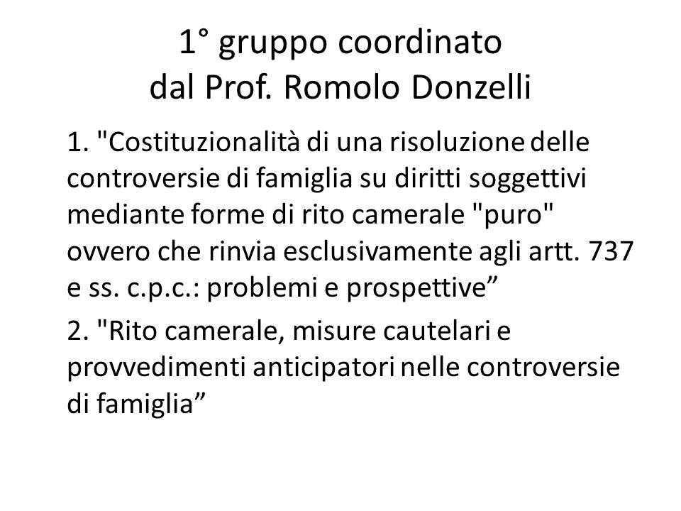 1° gruppo coordinato dal Prof. Romolo Donzelli