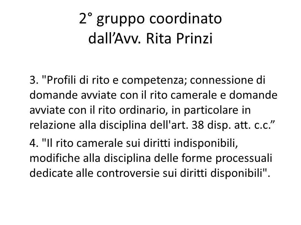 2° gruppo coordinato dall'Avv. Rita Prinzi
