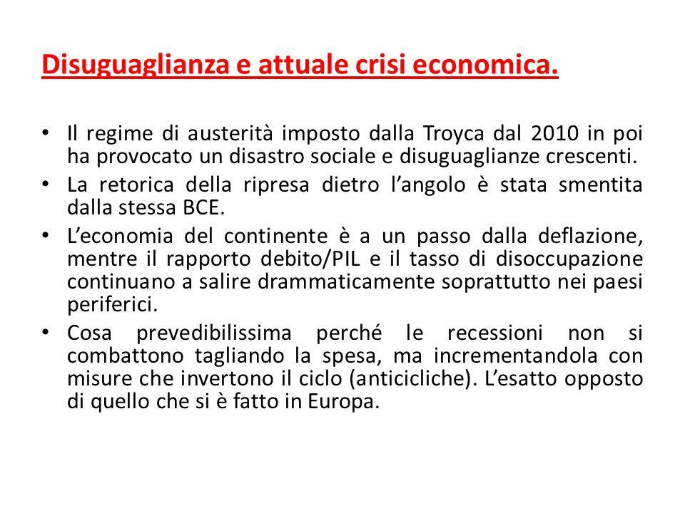 Disuguaglianza e attuale crisi economica.