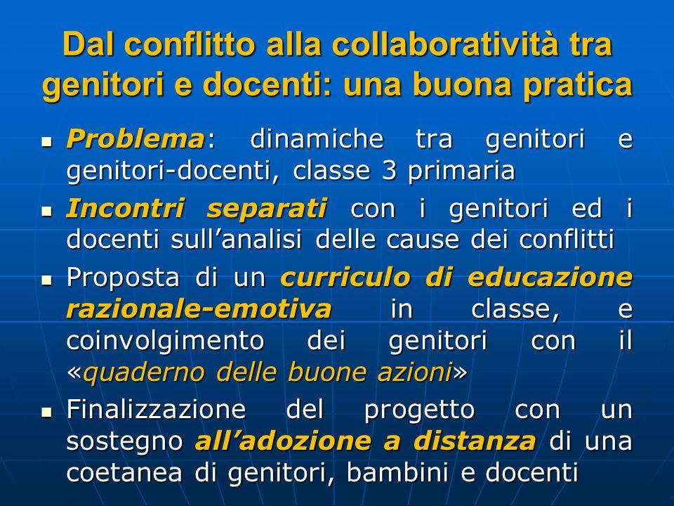 Dal conflitto alla collaboratività tra genitori e docenti: una buona pratica