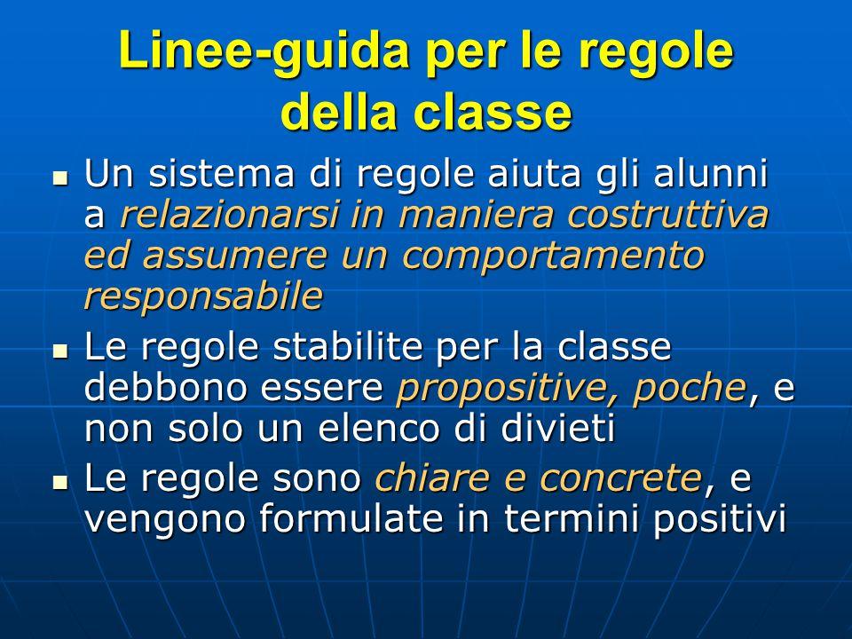 Linee-guida per le regole della classe
