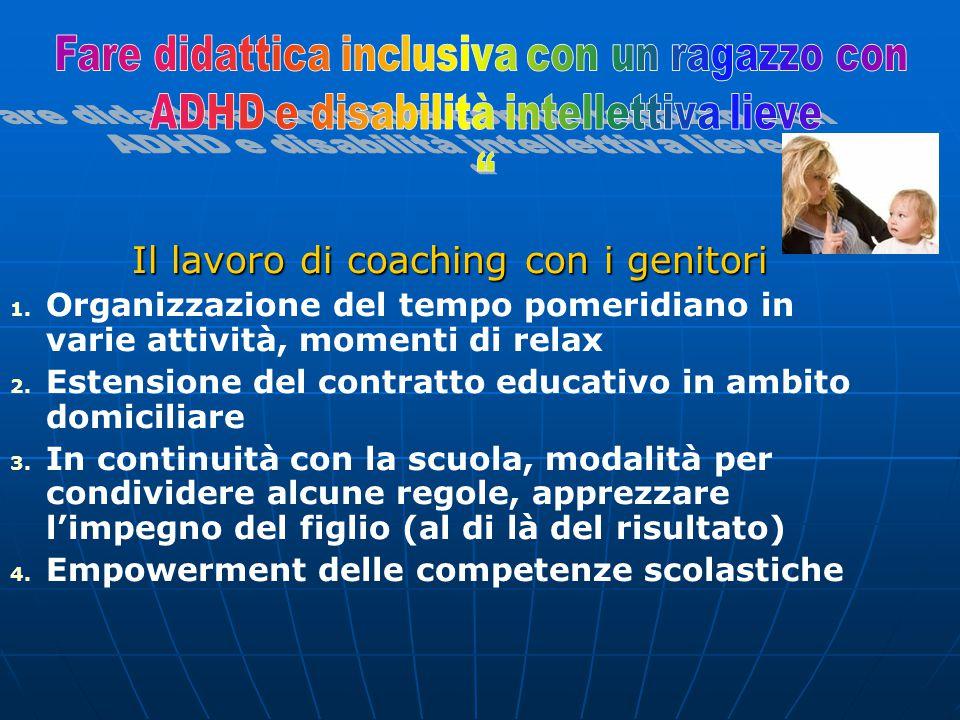 Il lavoro di coaching con i genitori