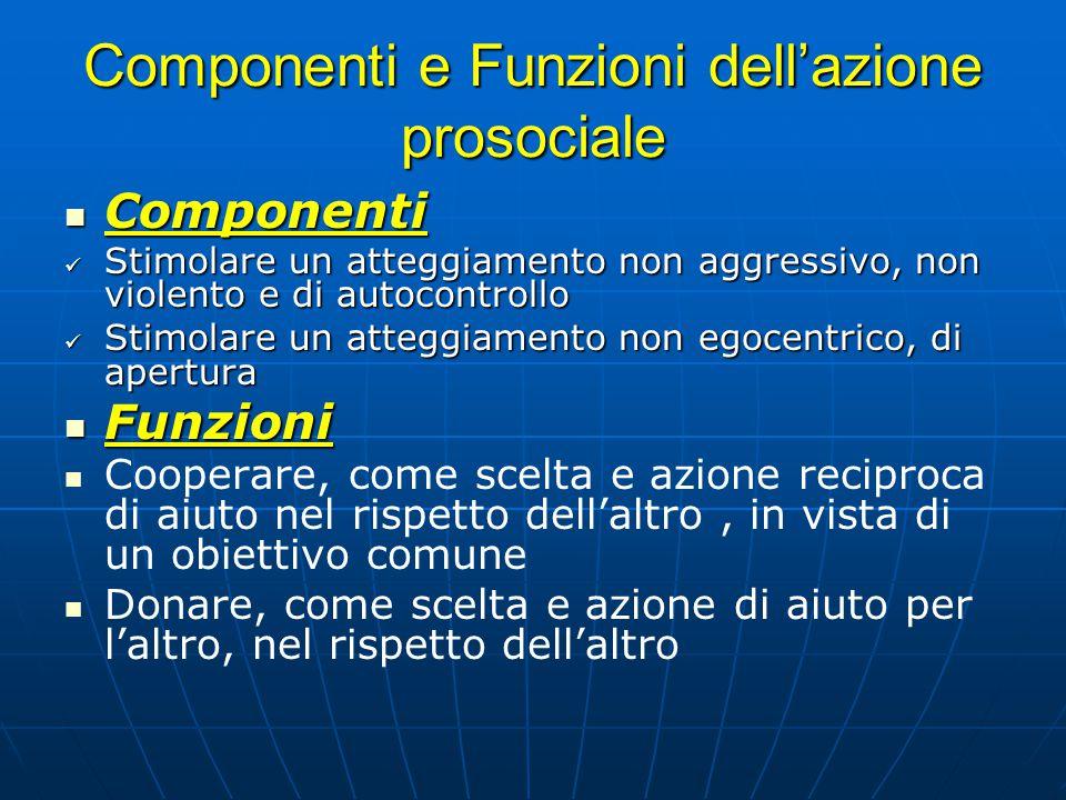 Componenti e Funzioni dell'azione prosociale
