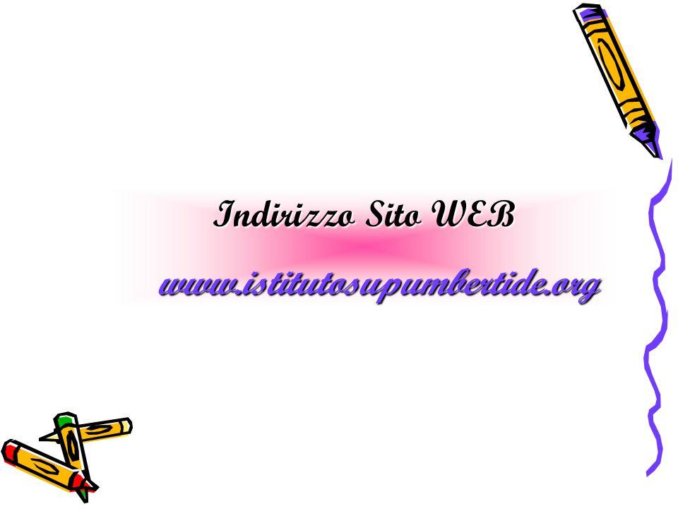 Indirizzo Sito WEB www.istitutosupumbertide.org