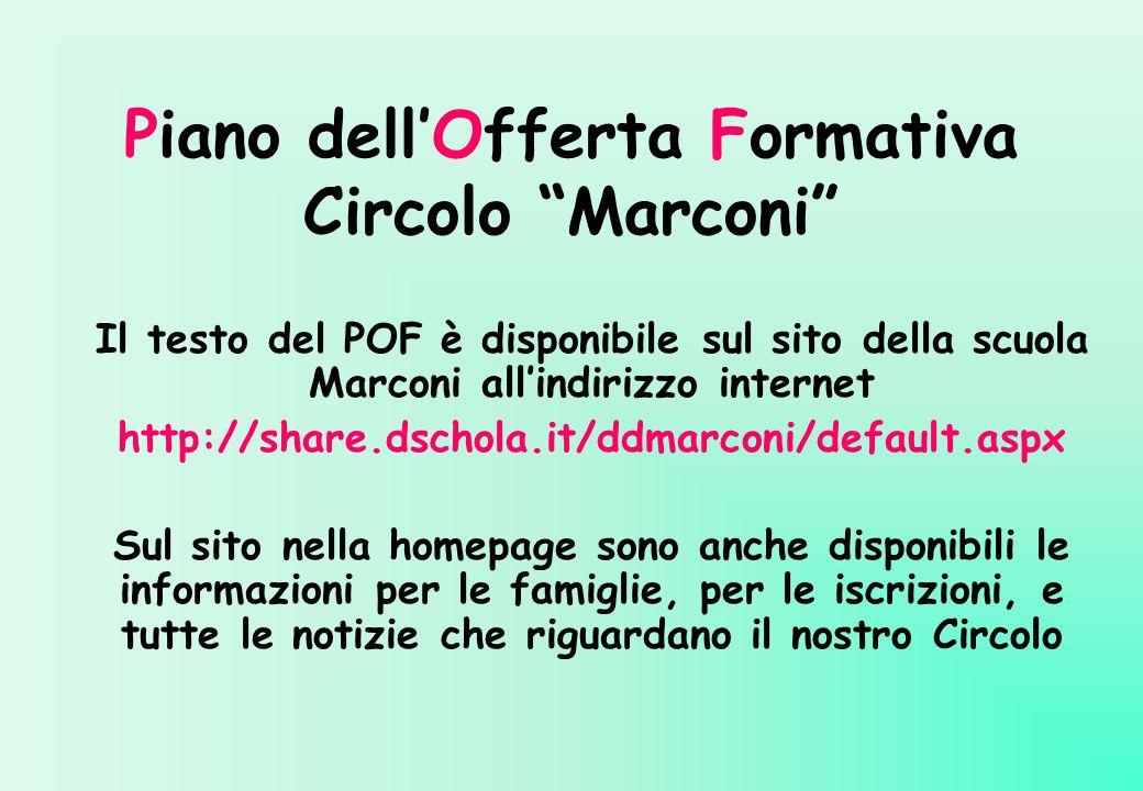 Piano dell'Offerta Formativa Circolo Marconi