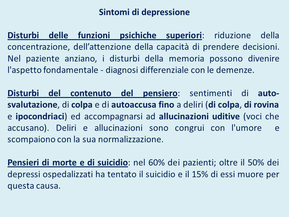 Sintomi di depressione