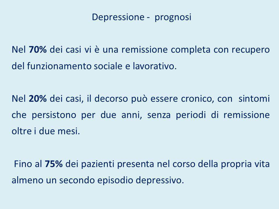 Depressione - prognosi