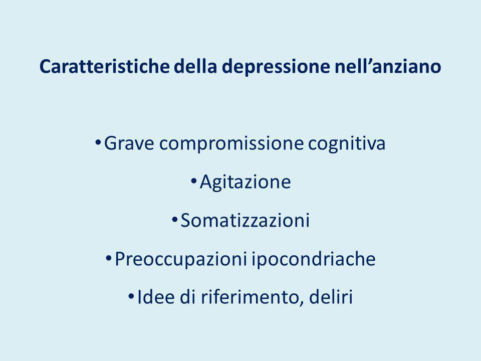 Caratteristiche della depressione nell'anziano