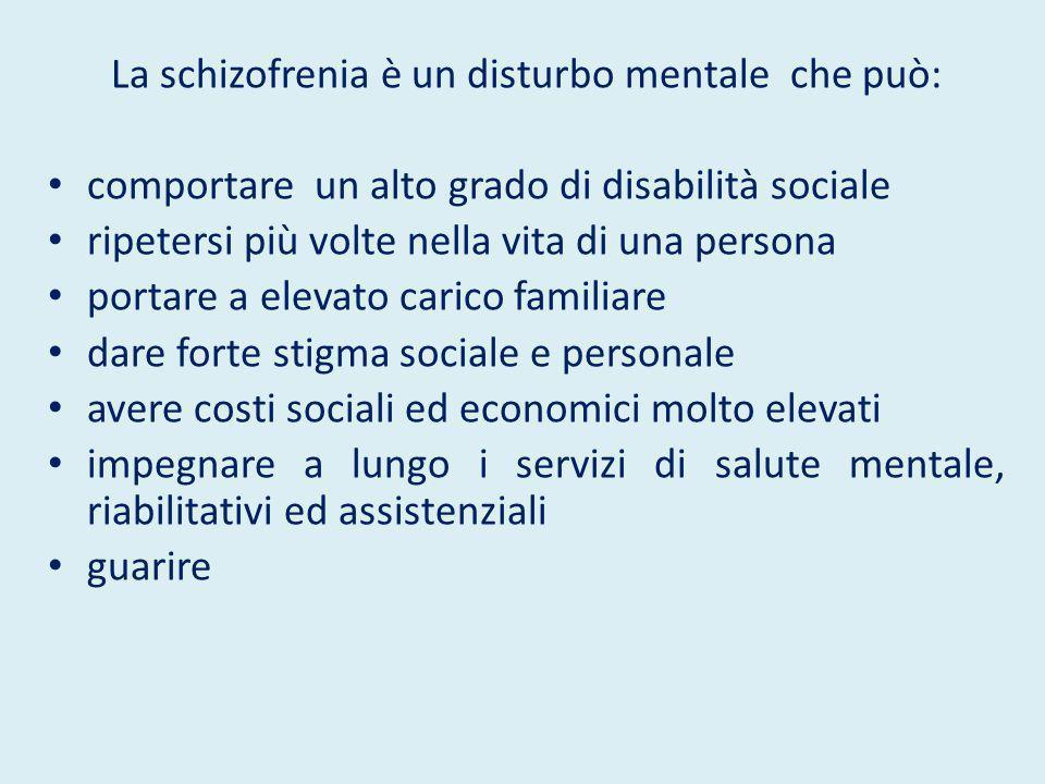 La schizofrenia è un disturbo mentale che può:
