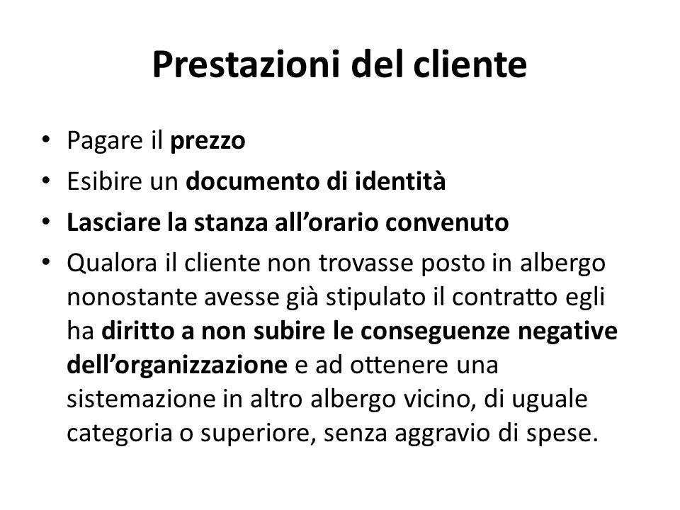 Prestazioni del cliente