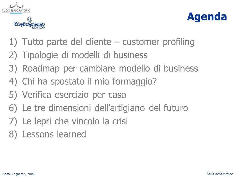 Agenda Tutto parte del cliente – customer profiling