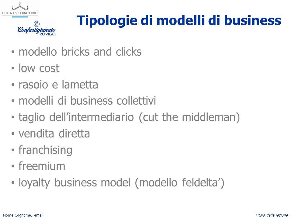 Tipologie di modelli di business