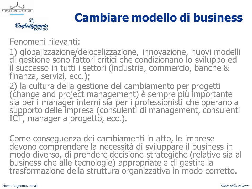 Cambiare modello di business