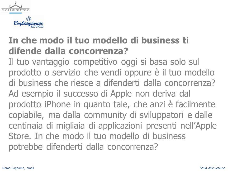 In che modo il tuo modello di business ti difende dalla concorrenza