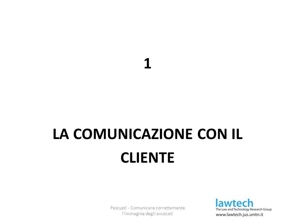 1 LA COMUNICAZIONE CON IL CLIENTE