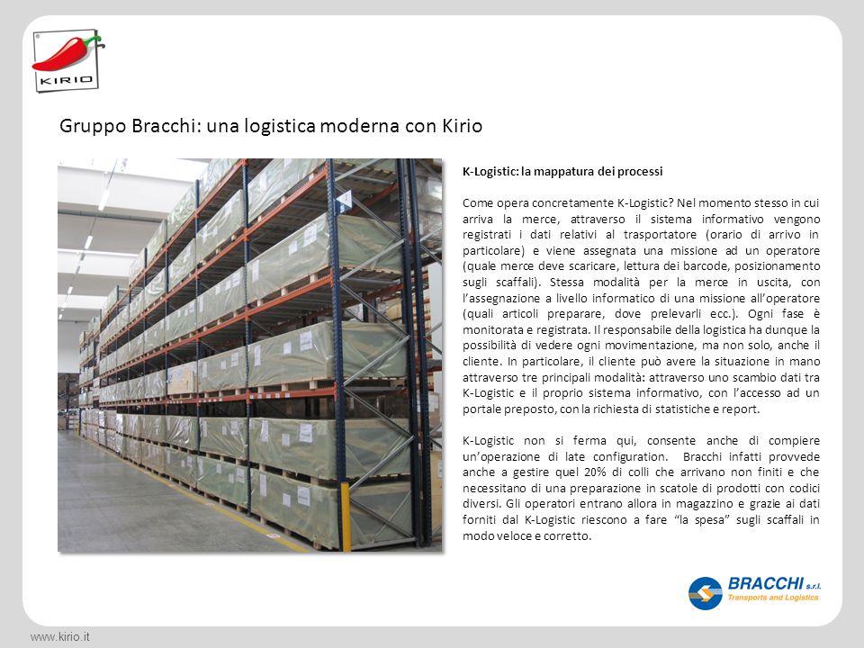 Gruppo Bracchi: una logistica moderna con Kirio