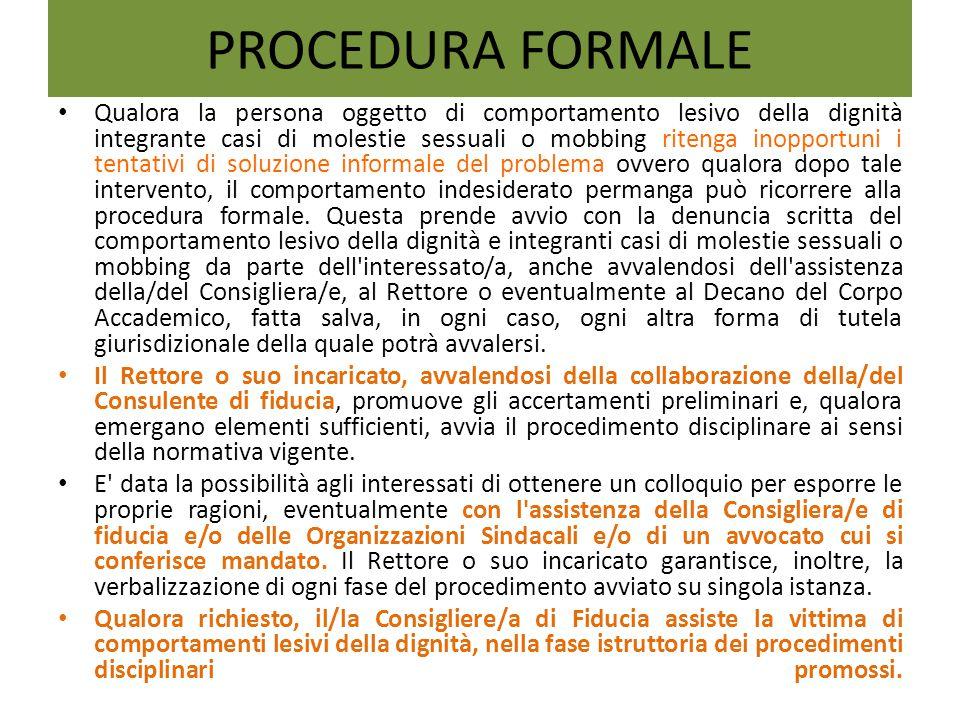 PROCEDURA FORMALE