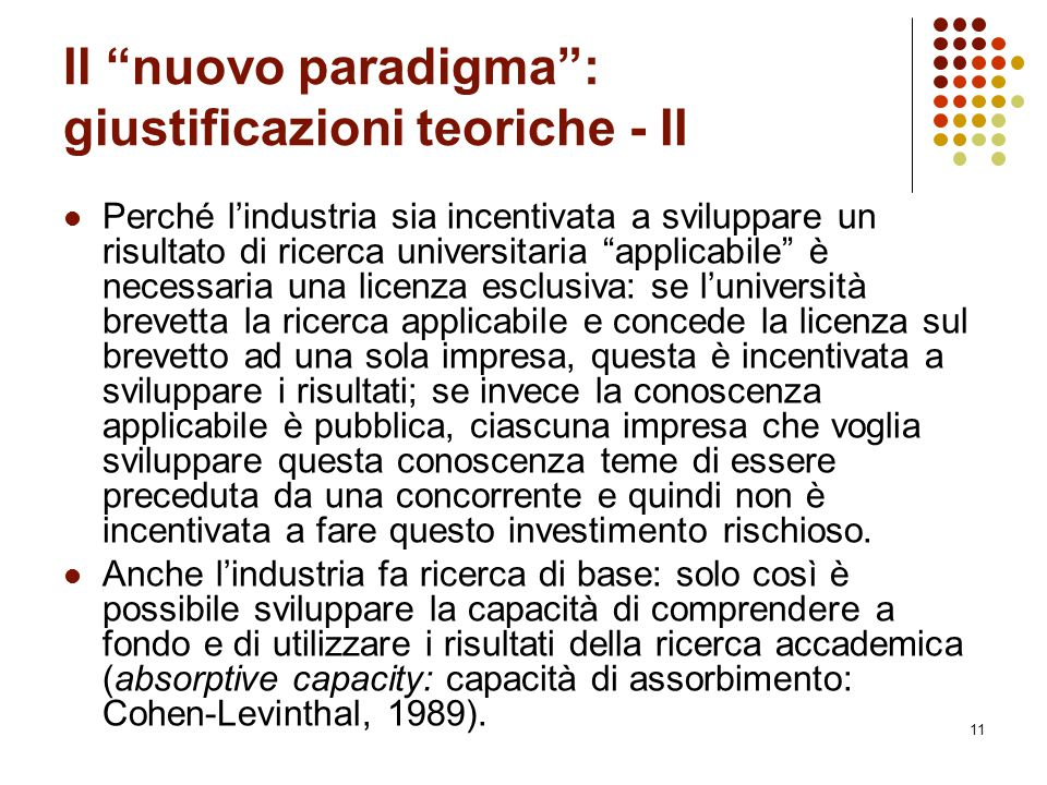 Il nuovo paradigma : giustificazioni teoriche - II