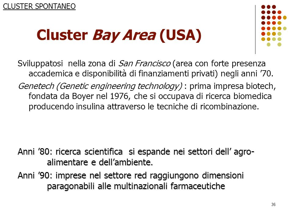 CLUSTER SPONTANEO Cluster Bay Area (USA)