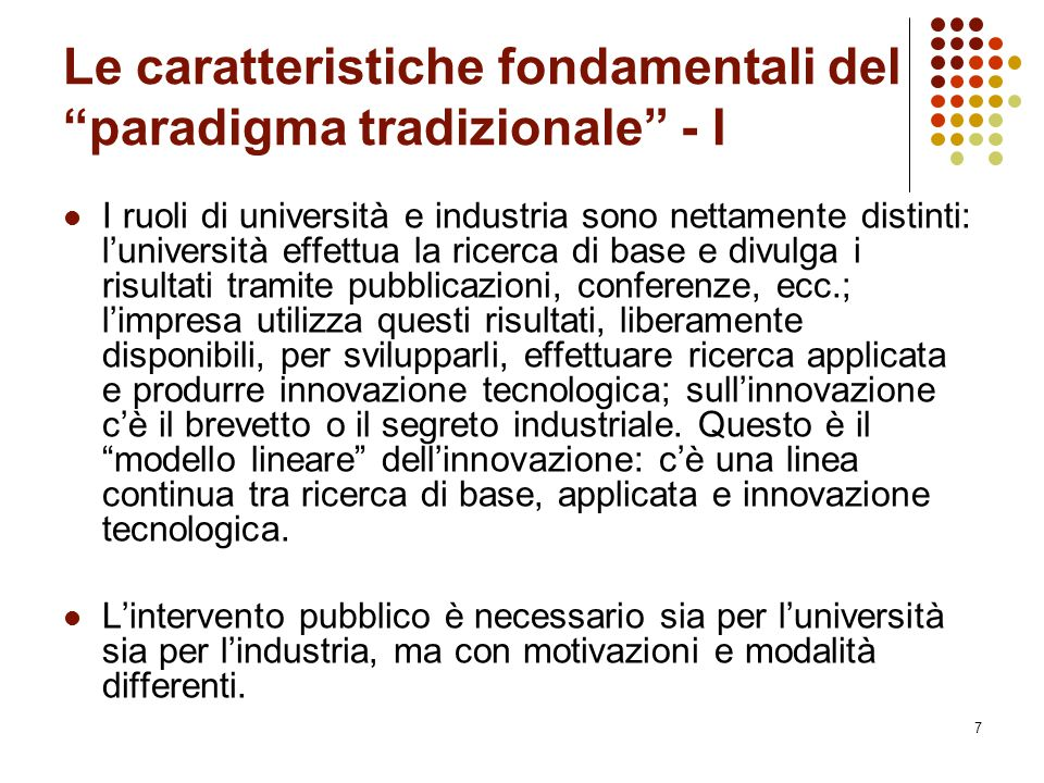 Le caratteristiche fondamentali del paradigma tradizionale - I