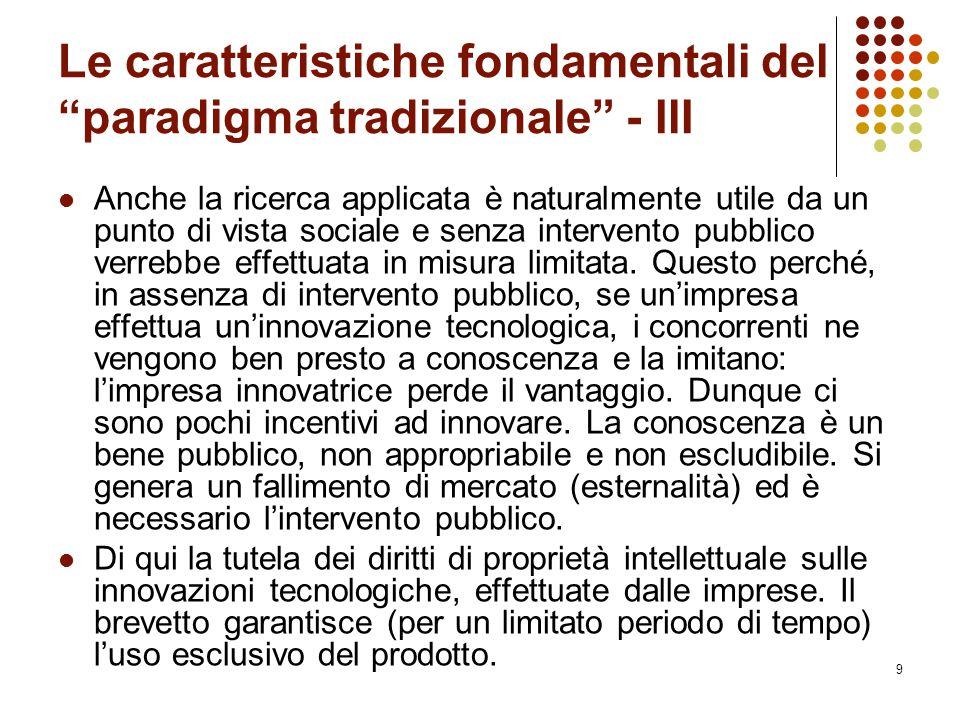 Le caratteristiche fondamentali del paradigma tradizionale - IlI