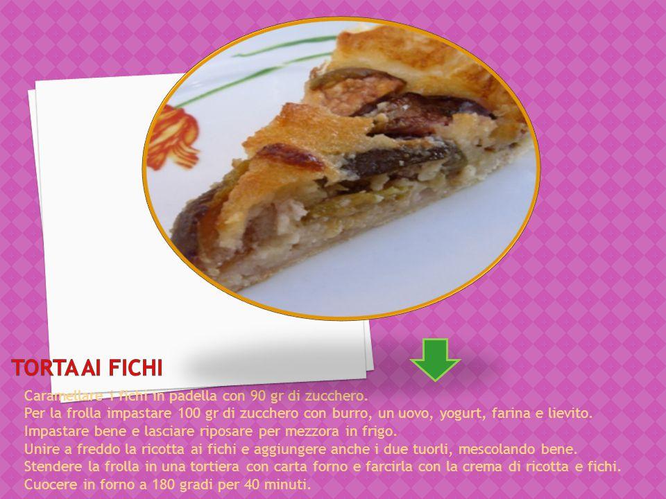Torta ai Fichi Caramellare i fichi in padella con 90 gr di zucchero.