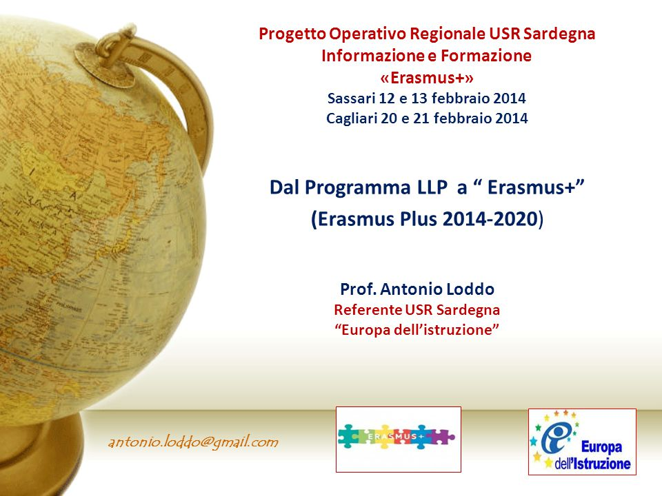 Dal Programma LLP a Erasmus+ (Erasmus Plus 2014-2020)