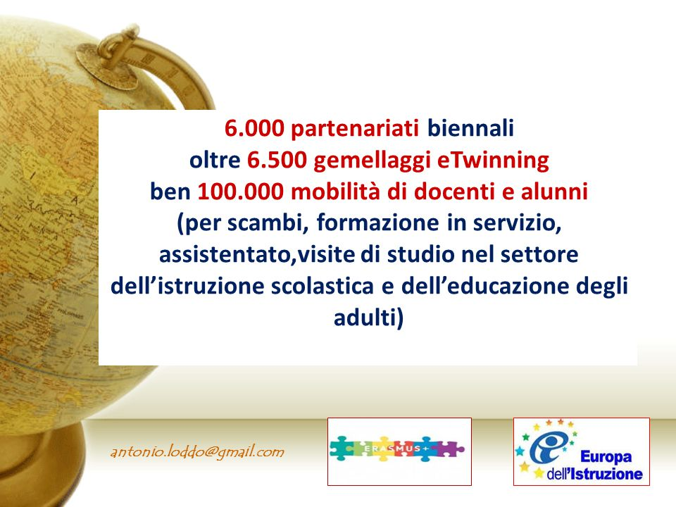 6.000 partenariati biennali oltre 6.500 gemellaggi eTwinning