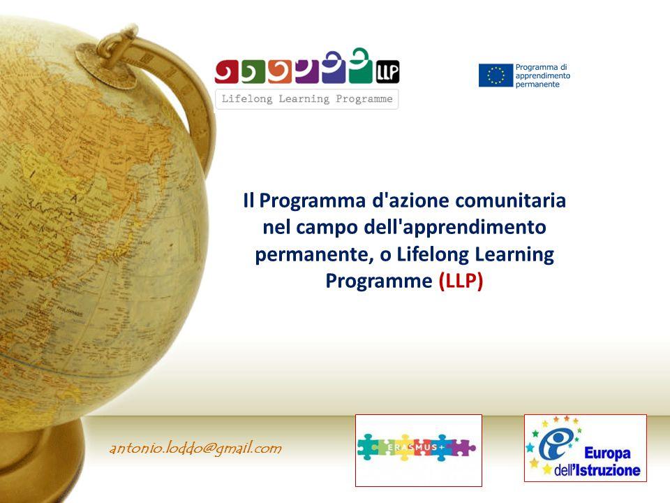 Il Programma d azione comunitaria nel campo dell apprendimento permanente, o Lifelong Learning Programme (LLP)