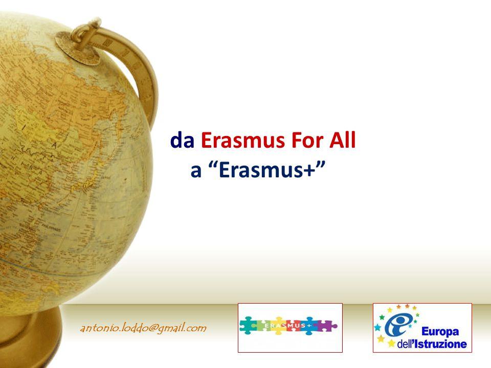 da Erasmus For All a Erasmus+