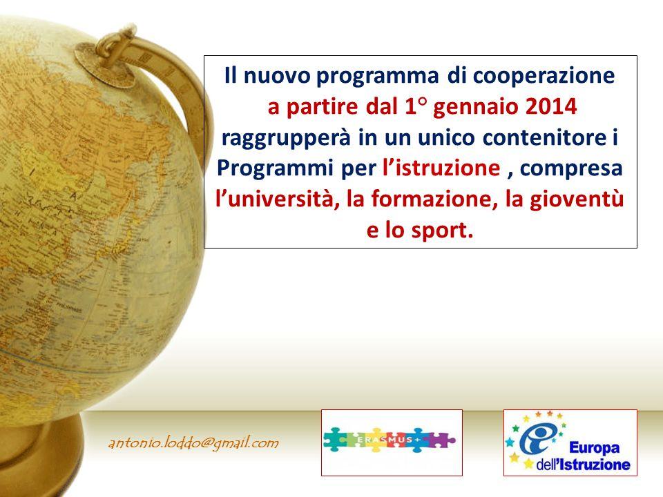 Il nuovo programma di cooperazione