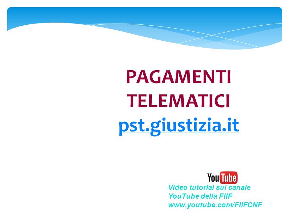 PAGAMENTI TELEMATICI pst.giustizia.it
