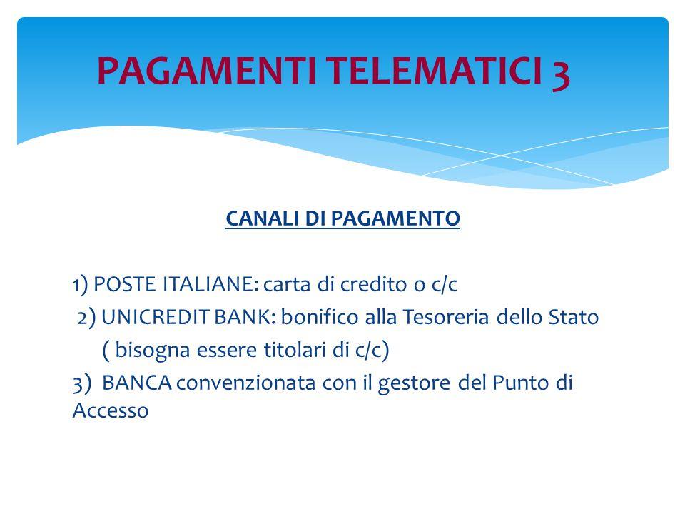 PAGAMENTI TELEMATICI 3