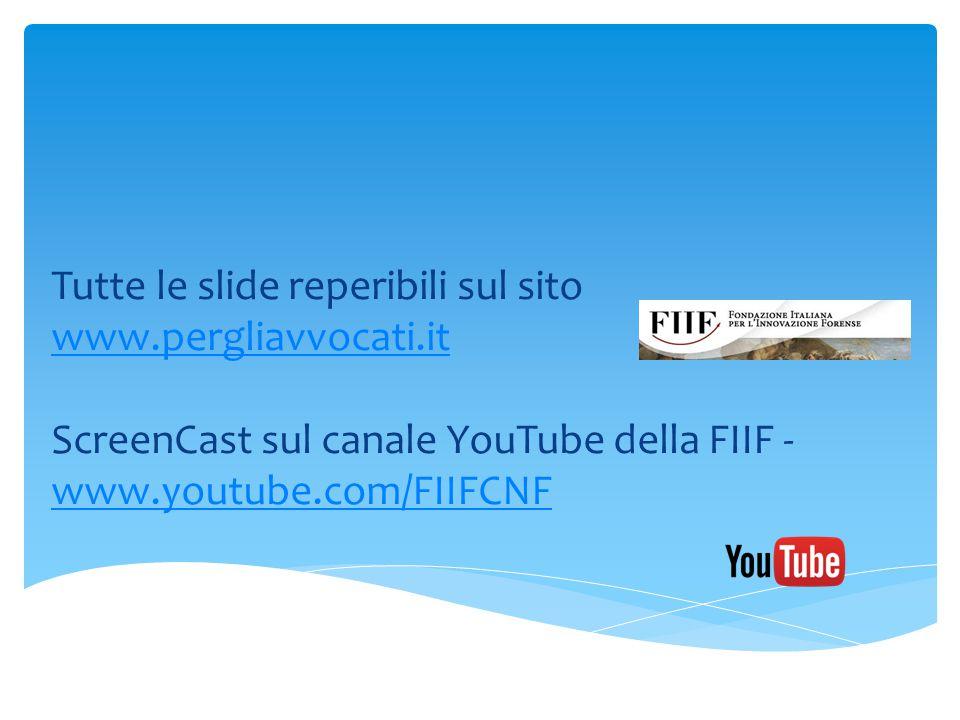 Tutte le slide reperibili sul sito www.pergliavvocati.it