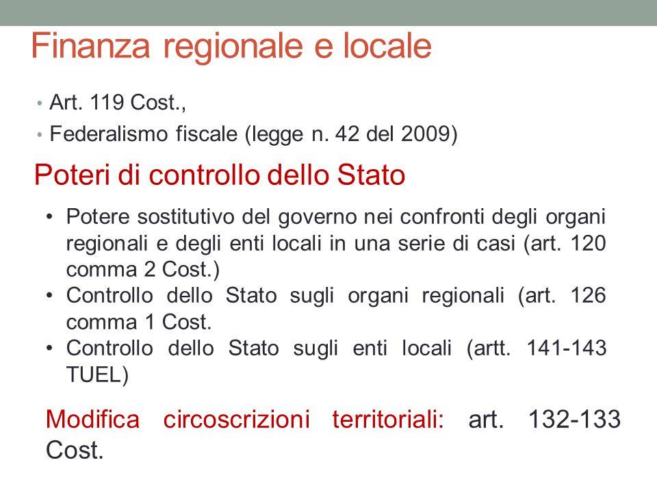 Finanza regionale e locale