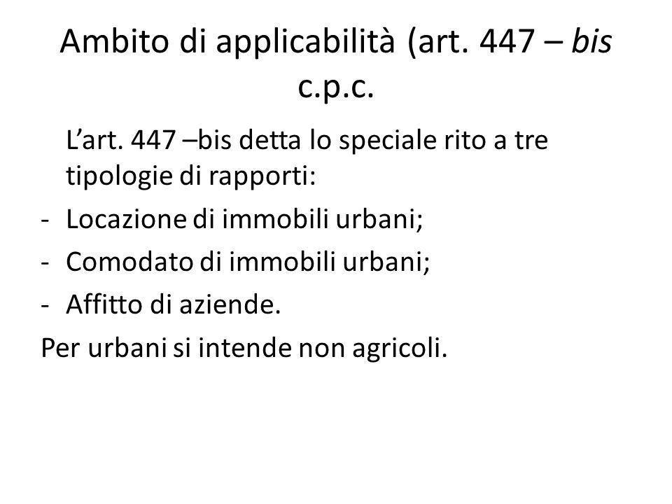 Ambito di applicabilità (art. 447 – bis c.p.c.