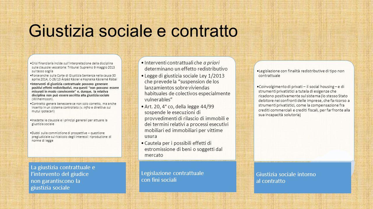 Giustizia sociale e contratto