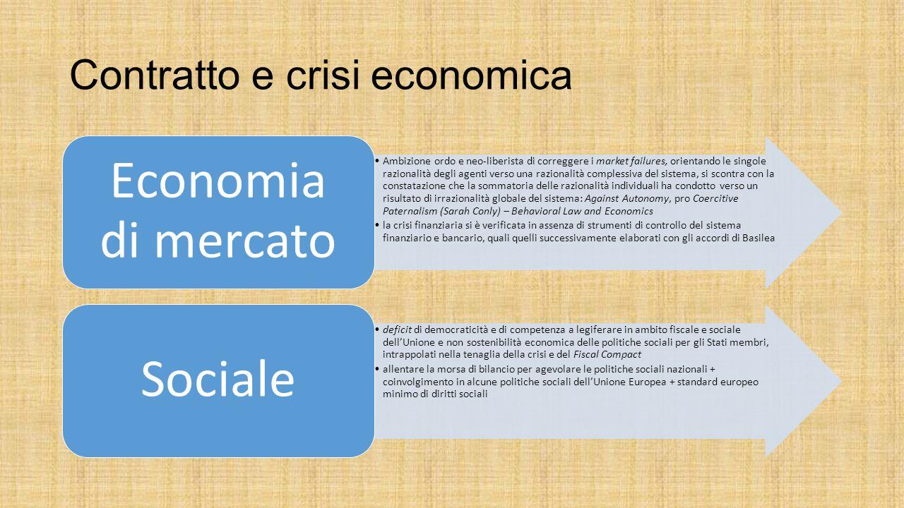 Contratto e crisi economica