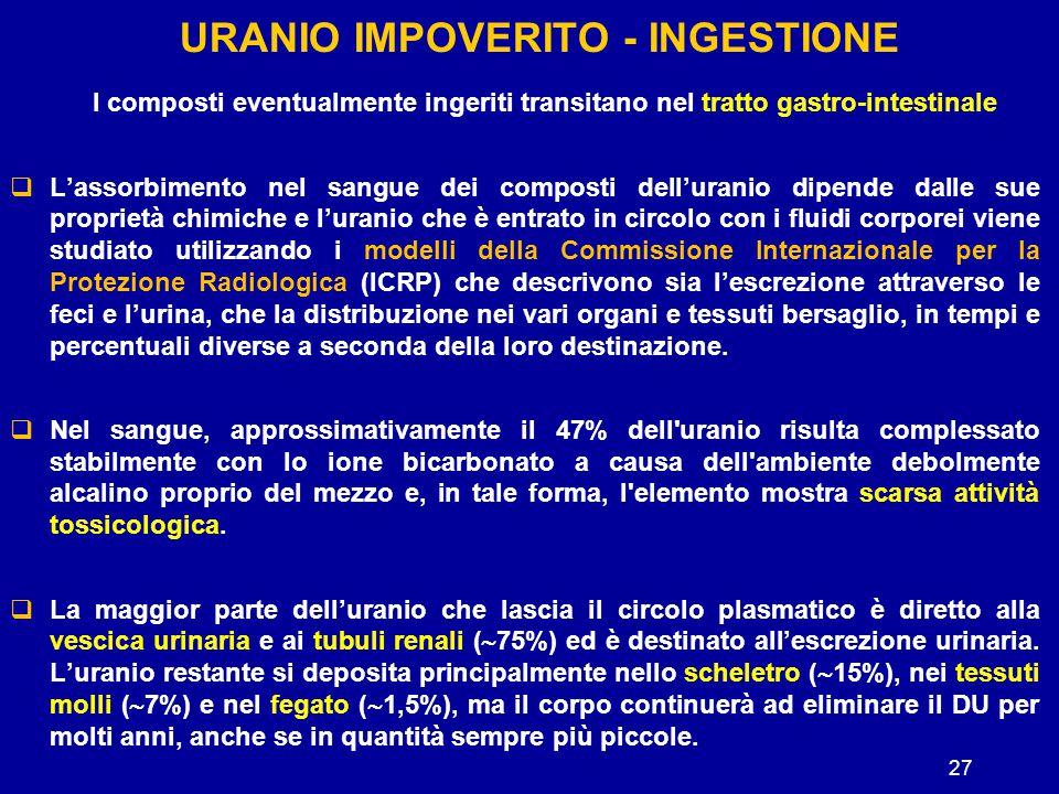 Uranio impoverito - ingestione