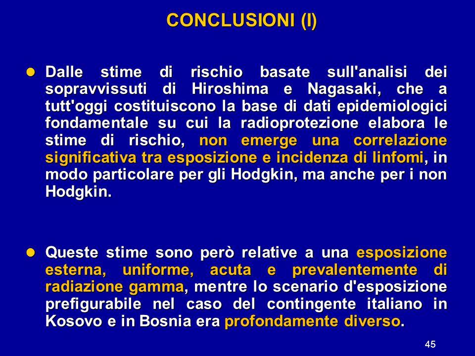 CONCLUSIONI (I)