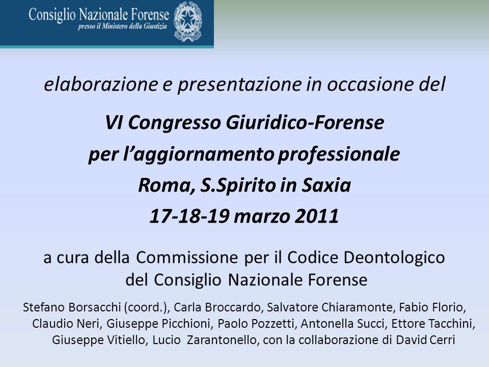 VI Congresso Giuridico-Forense per l'aggiornamento professionale