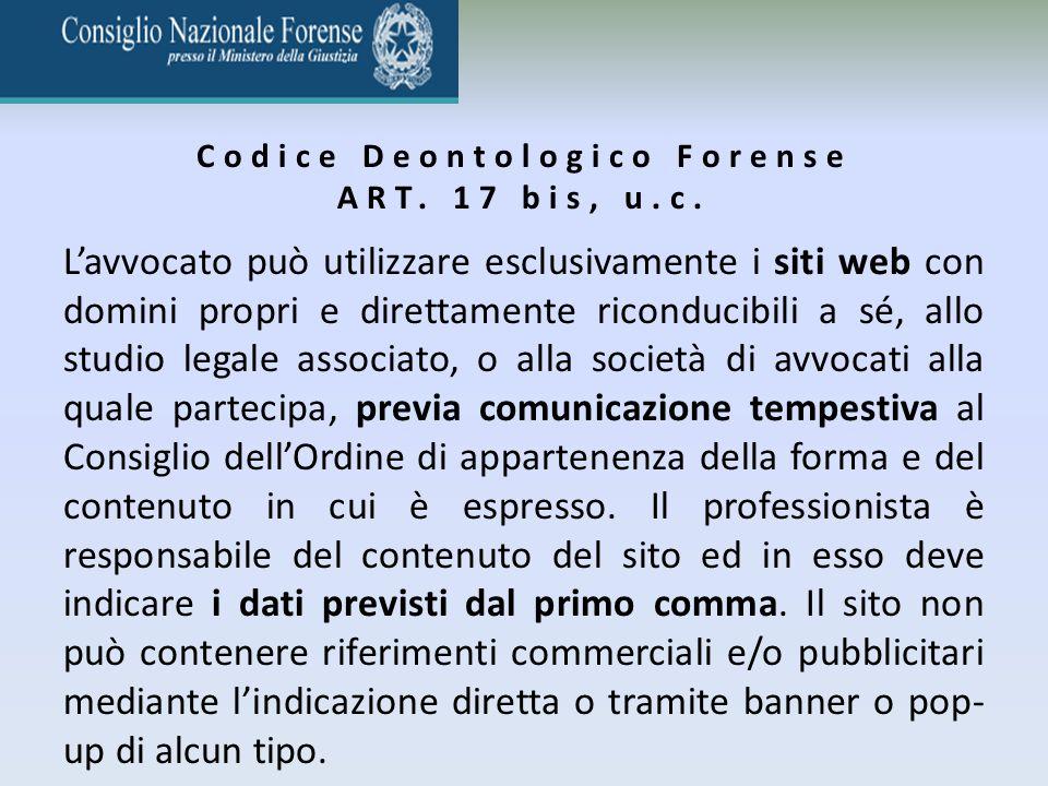 Codice Deontologico Forense